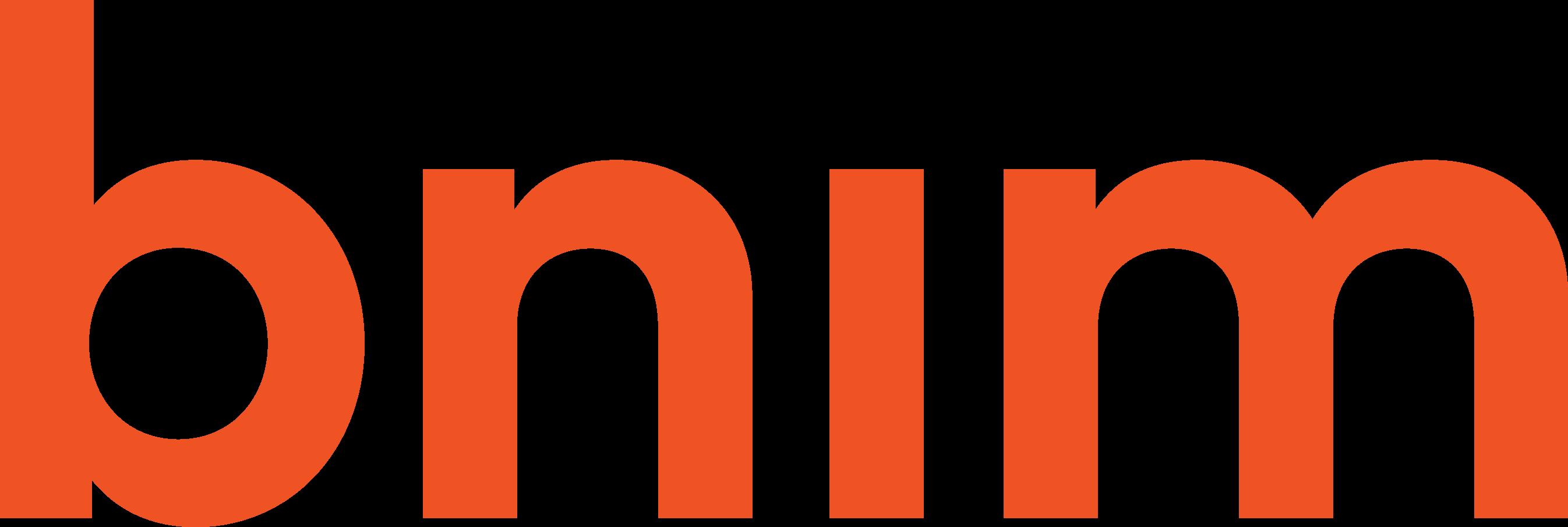 bnim logo; orange