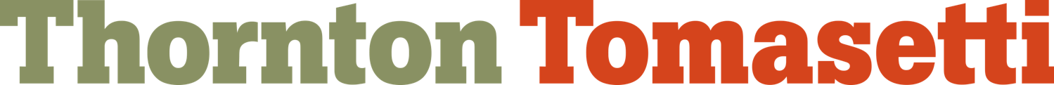 Logo Reads: Thornton Tomasetti (Green/Orange)